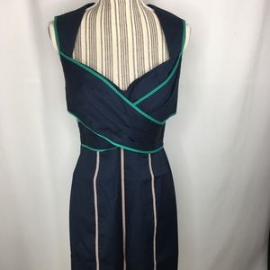 Jessica Simpson open back Navy Blue Dress